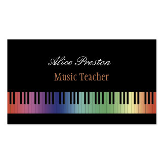 Buntes Klavier des Musik-Lehrer-| Visitenkarten