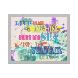 buntes Leinwand-Wandkunst Emerson Zitat Leinwanddruck