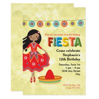 Buntes mexikanisches Fiesta-Kindergeburtstag-Party 12,7 X 17,8 Cm Einladungskarte