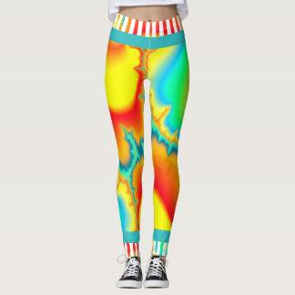 Buntes modernes des psychedelischen Fraktals Leggings