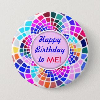 Buntes Mosaik-alles Gute zum Geburtstag zu mir Runder Button 7,6 Cm