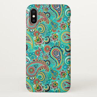 Buntes nahtloses Muster Paisleys iPhone X Hülle