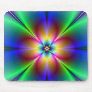 Buntes Neongänseblümchen Mousepad
