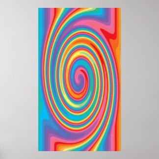 Buntes Pinwheelkunst-Musterplakat Poster