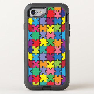 Buntes Puzzlespiel-Muster-Autismus-Bewusstsein ASD OtterBox Defender iPhone 8/7 Hülle