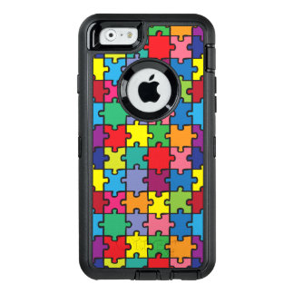 Buntes Puzzlespiel-Muster-Autismus-Bewusstsein ASD OtterBox iPhone 6/6s Hülle