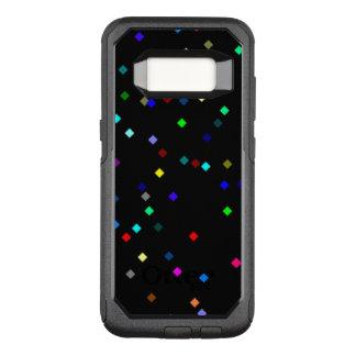 Buntes Quadrat-Muster auf schwarzem Hintergrund OtterBox Commuter Samsung Galaxy S8 Hülle