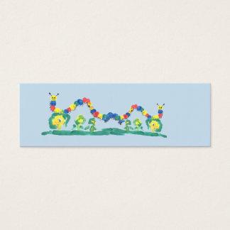 Buntes Raupen-Lesezeichen Mini Visitenkarte