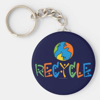 Buntes Recyceln Schlüsselanhänger