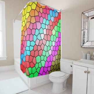 Buntes Regenbogen-Glas-Muster Duschvorhang