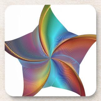 Buntes Regenbogen-Prisma-wirbelnder Stern Getränkeuntersetzer