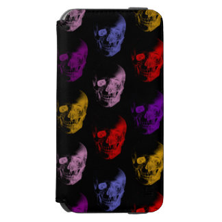 Buntes Röntgenstrahl-Schädel-Muster Incipio Watson™ iPhone 6 Geldbörsen Hülle