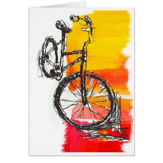 Buntes rotes Fahrrad Karte