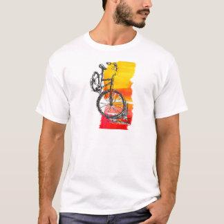 Buntes rotes Fahrrad T-Shirt