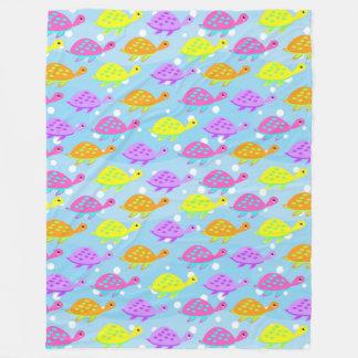 Buntes Schildkröten-Muster Fleecedecke