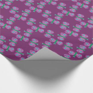 Buntes Schmetterlings-Packpapier Einpackpapier