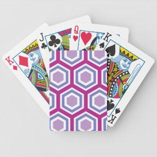Buntes sechseckiges Muster Pokerkarten