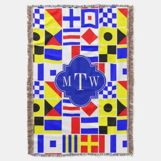 Buntes Seesignal-Flaggen-königliches Monogramm 3I Decke