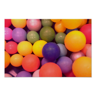 Buntes Spaß-Ball-Gruben-Muster-Plakat Poster
