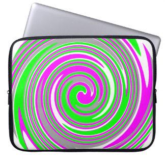 Buntes Strudelmuster Laptop Sleeve