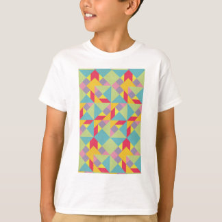 Buntes Tangram-Muster T-Shirt