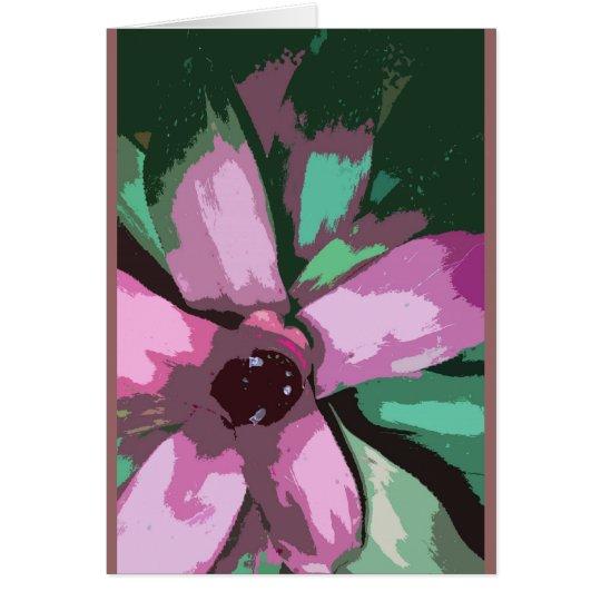 Buntes tropisches bromeliad grußkarte