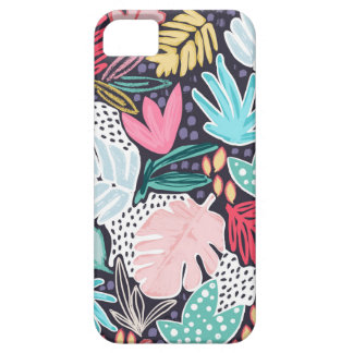 Buntes tropisches Collagen-Marine-Muster Phonecase Etui Fürs iPhone 5