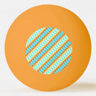 Buntes Türkis-Blau-orange Gelb-Muster Tischtennis Ball