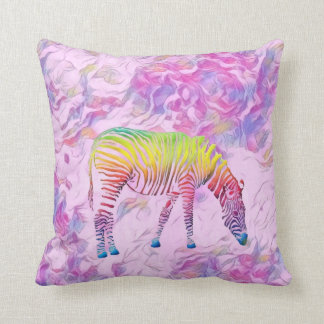 buntes Zebra-Wurfskissen Kissen