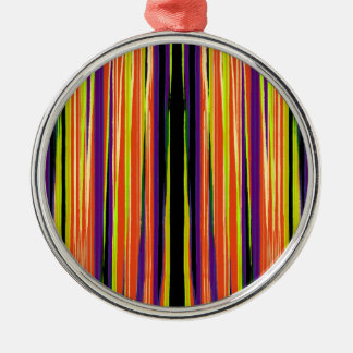 Buntes zerrissenes Papiermuster Rundes Silberfarbenes Ornament