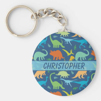 Buntes zu personifizieren Dinosaurier-Muster Schlüsselanhänger