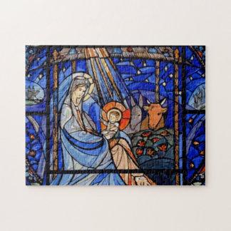Buntglas-Art-Geburt Christi