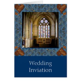 Buntglas, das Einladung Wedding ist