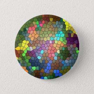 Buntglas durch Shirley Taylor Runder Button 5,7 Cm