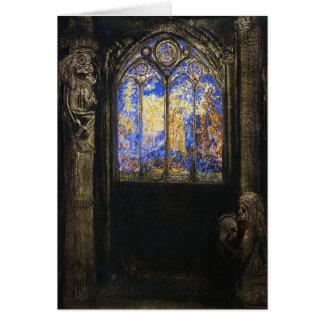 Buntglas-Fenster durch Odilon Redon Karte