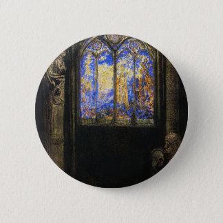 Buntglas-Fenster durch Odilon Redon Runder Button 5,7 Cm