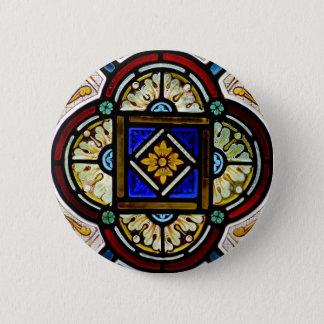 Buntglas-Fenster Runder Button 5,1 Cm