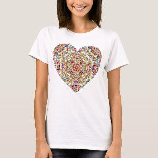 Buntglas-Herz T-Shirt