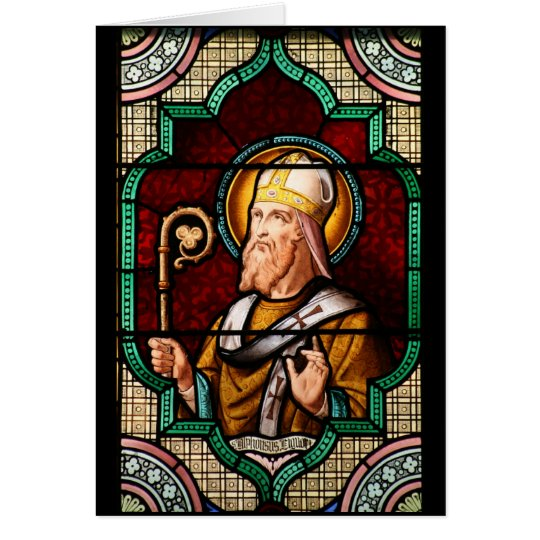 Buntglas-Kunst Heiliges Alphonsus Maria de Liguori Grußkarte