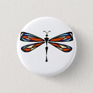 Buntglas-Libellen-Knopf Runder Button 3,2 Cm