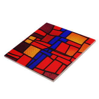 Buntglas-Mosaik Fliese
