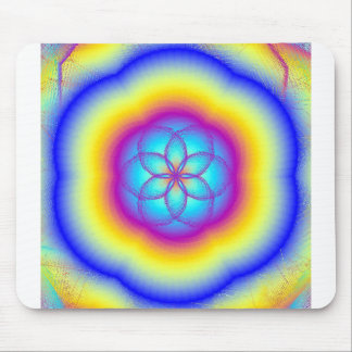 Buntglas-Regenbogen-Lotus-Blüten-Mausunterlage Mousepad