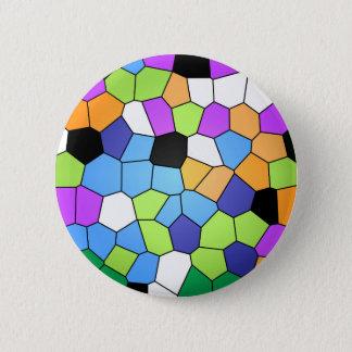 Buntglas Runder Button 5,7 Cm