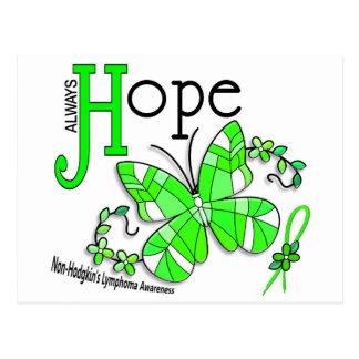 Buntglas-Schmetterling Non-Hodgkins Lymphom Postkarten