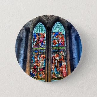 Buntglas Windows, Salisbury-Kathedrale, Runder Button 5,1 Cm
