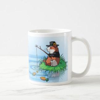 Bunty das Meerschweinchen geht Karotten-Fischen Kaffeetasse