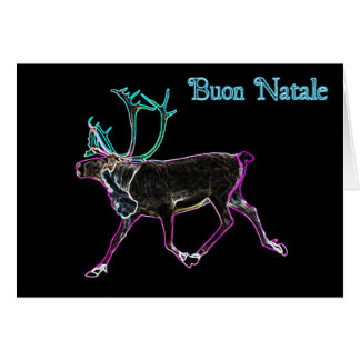 Buon Natale - elektrisches Karibu Karte