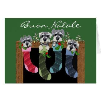 Buon Natale italienische Weihnachtskarte Karte