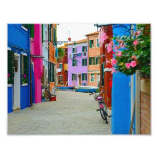 Burano Italien Fotodruck