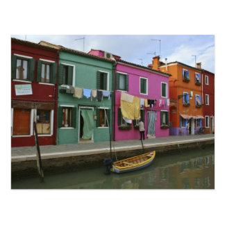 Burano, Italien Postkarte